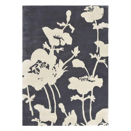 Floral 300 Charcoal